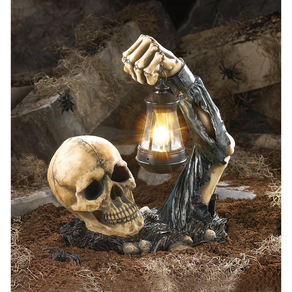 Halloween skulls decoration - Zombie Skeleton Rising From The Grave Halloween Decor