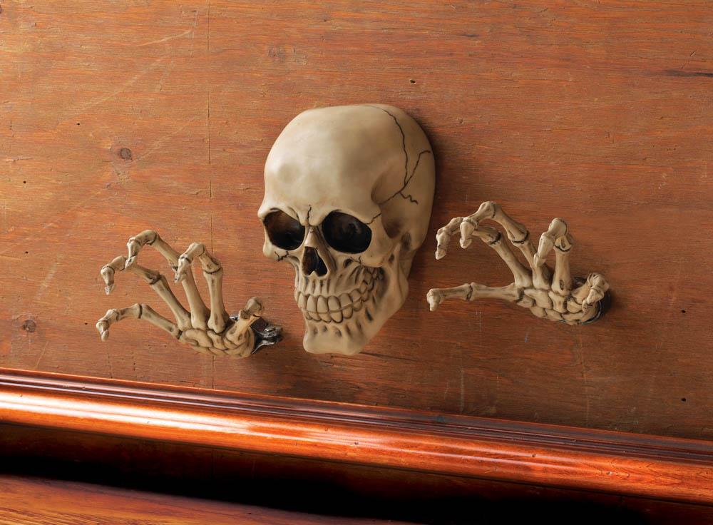 skeleton through the wall decor mythical decor dragon